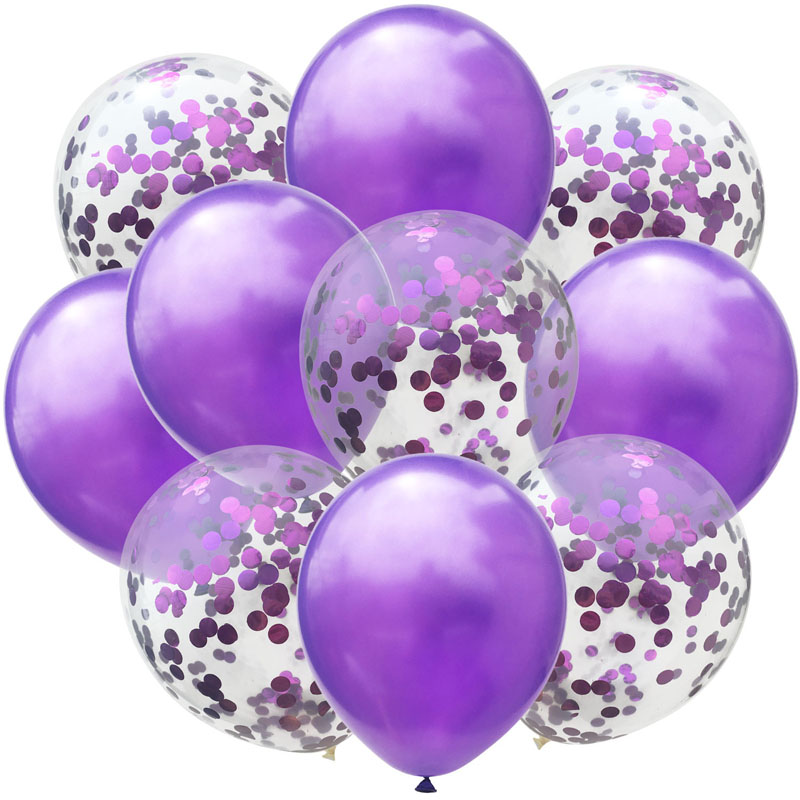 10pc 12inch Latex Colored Confetti Balloons And Birthday Party Decorations 13