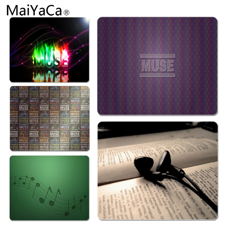 MaiYaCa Personalized Cool Fashion Music Muse Gamer Play Mats Mousepad Size For 18x22cm 25x29cm Small Mousepad