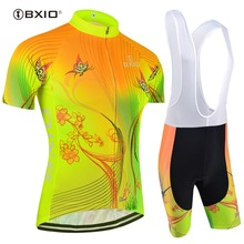 BXIO Top Rate Fluorescence Women Cycling Jerseys Sets Bicycle Short Sleeve Road Bike Clothing Roupas De Ciclismo Equipacion 120