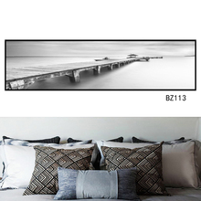 Ocean landscape painting poster Nordic style of Chinese wall art prints home decoration