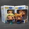 1 unids/lote alta calidad pop funko pop boneca princesa elsa anna 10 cm pvc figura de acción de recogida de juguetes para los niños t395