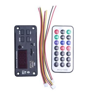 Image 5 - Newest Wireless Bluetooth MP3 WMA Decoder Board Audio Module Support USB TF AUX FM Audio Radio Module For Car accessories