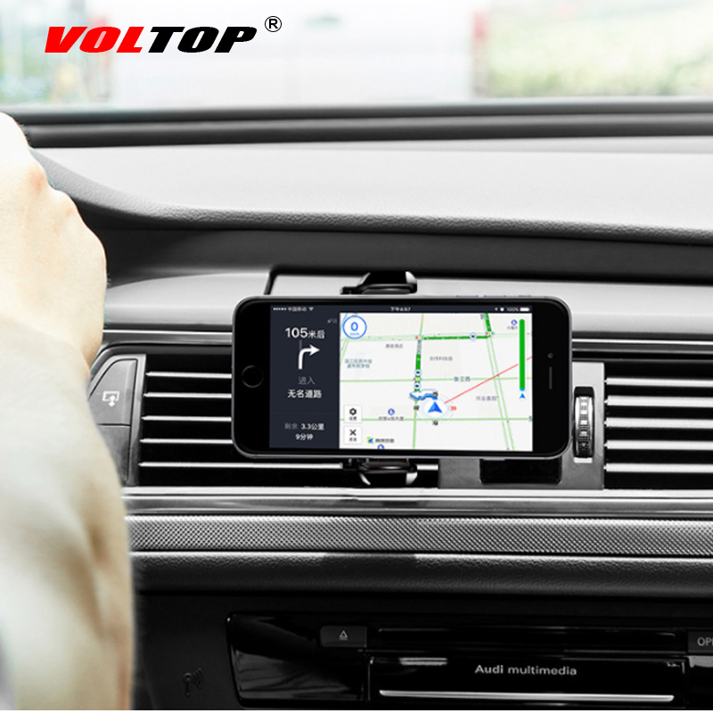 VOLTOP 360 Rotatable Phone Holder Car Accessories Air Outlet Lazy Universal Mobile Phone Navigation Support Stand Auto Supplies