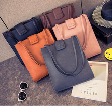 Shoulder Bag for Women 2018 Handbags PU Casual Shopping Bags Large Capacity Casual Tote Simple Top-handle Hand Bags Solid luxury leather bags women handbags 2019 large capacity vintage ladies hand bags top handle bag solid tote shoulder tassel