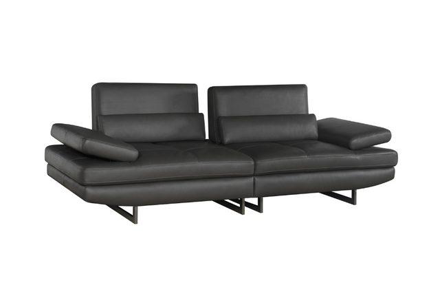 Echt Leder Sofa Sectional Sofa Im Wohnzimmer Ecke Wohnmöbel Couch L Form  Funktionskopfstütze Moderne Edelstahl Beine