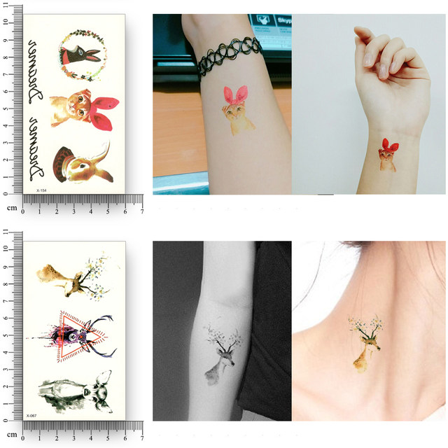 Online Shop 12 Sheets Fake Temporary Tattoo Water Transfer Chinese