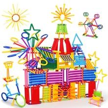 200pcs Assembled Building Blocks DIY Smart Stick Plastic Blocks Imagination Creativity Educational Learning Toys Children Gift ysgo 120 projects integrated circuit building blocks learning