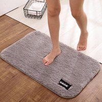 Bathroom Carpets Absorbent Soft Memory Foam Doormat Floor Rugs Oval Non Slip Bath Mats Plain Rug Bathroom Supplies