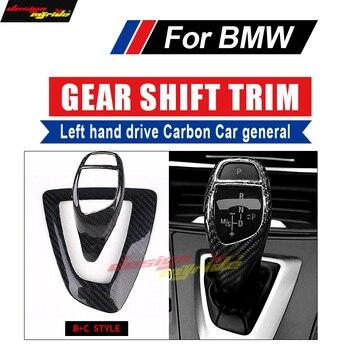 Para BMW B + C tipo X3 X4 F25 F26 movimentação da mão Esquerda de Carbono car Deslocamento de Engrenagem Knob Tampa geral & Surround Capa guarnição interior Do Carro-styling