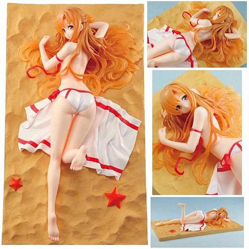 2 Styles Anime Sword Art Online Figure Yuuki Asuna Swimsuit Sex Figure PVC Action Figure Model Doll Brinquedos Free Shipping