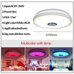 Image 5 - Müzik LED tavan Işıkları RGB APP kontrolü tavan lambası yatak odası 36W oturma odası ışık lampara de techo tavan ışık