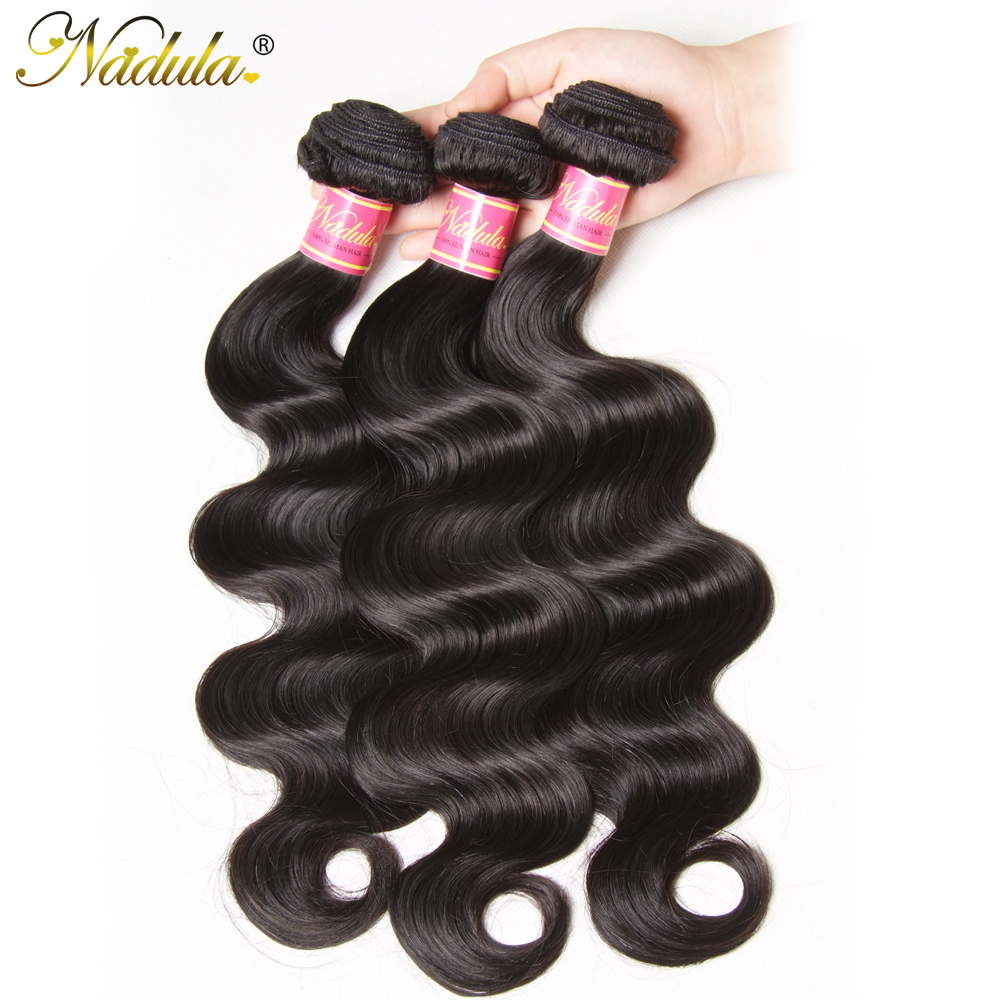 3/4 Bundles Friendly Nadula Hair Malaysian Body Wave Hair 3piece/lot Human Hair Bundles 8-30inch Remy Hair Weaves Free Shipping