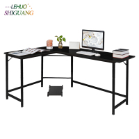 Black L Shaped Desktop Computer Desk Office furniture