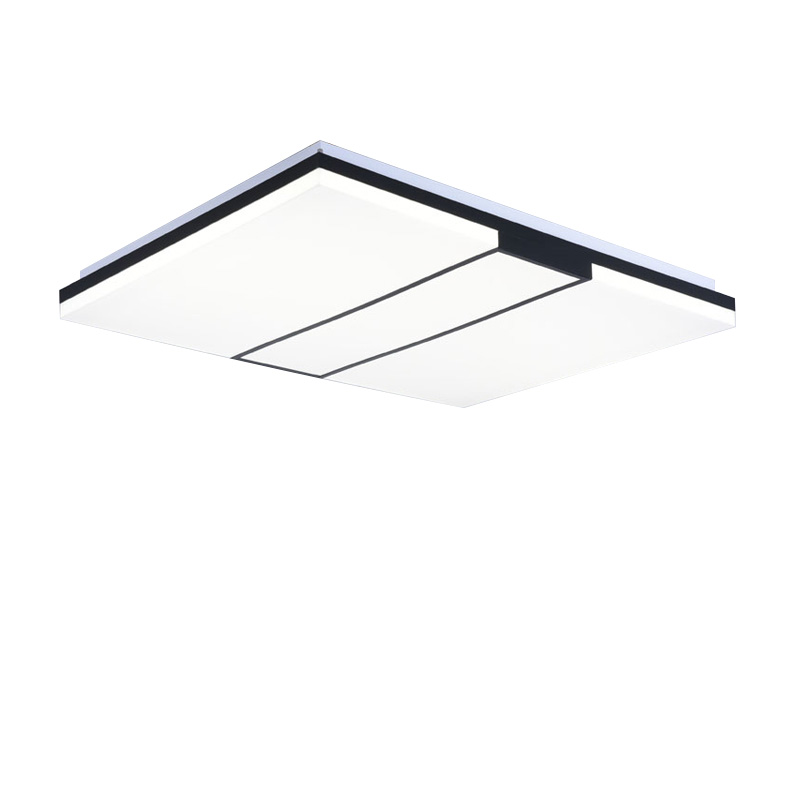 Modern ceiling lights for dining room black acrylic lampshade living room lights dimming Remote control AC 110-220V 85 X 63CM modern led ceiling lights black white square office light with dimming remote home lighting for living room dining ceiling lamps