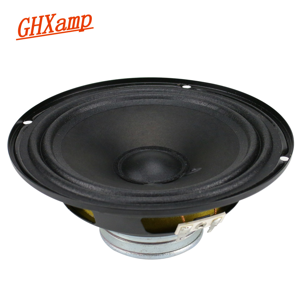 GHXAMP 6.5 inch Mid-Bass Speaker Unit Neodymium Magnet 4ohm 40W Double Cloth side Middle Woofer Loudspeaker For Car Speakers 1pc ghxamp 3 inch 4ohm 30w midrange speaker car speaker mid human voice sound good loudspeaker for lg diy 2pcs