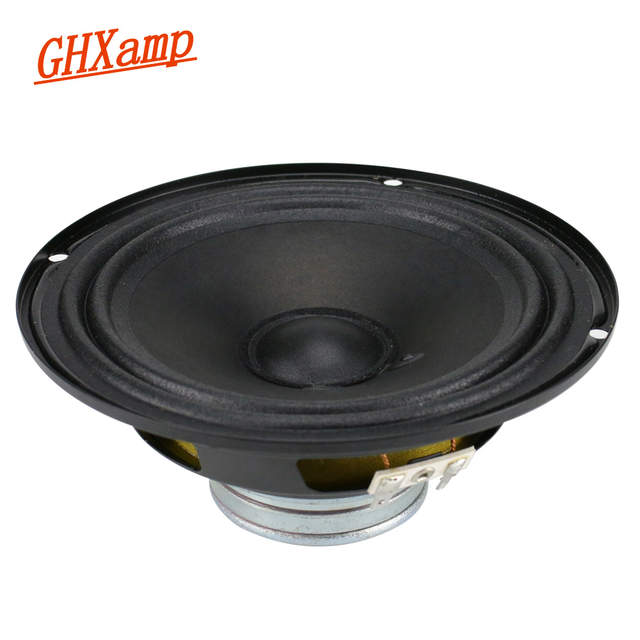 US $30 69 19% OFF|GHXAMP 6 5 inch Mid Bass Speaker Unit Neodymium Magnet  4ohm 40W Double Cloth side Middle Woofer Loudspeaker For Car Speakers  1pc-in
