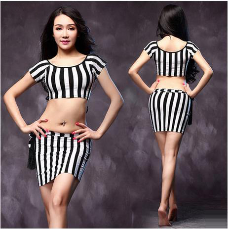 ba0c5c5145d0 New style belly dance costumes senior senior short sleeves top+skirt ...