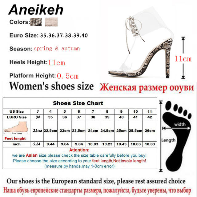aae5a7ce696 US $16.46 50% OFF|Aneikeh 2018 PVC Jelly Lace Up Sandals Open Toed High  Heels Sexy Women Transparent Heel Sandals Party Pump 11CM Sandalias Mujer  -in ...