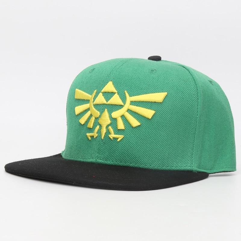 Game The Legend of Zelda Logo Embroidery Baseball Caps Snapback Caps Hats Casual Adjustable Green Sun Hat Cap