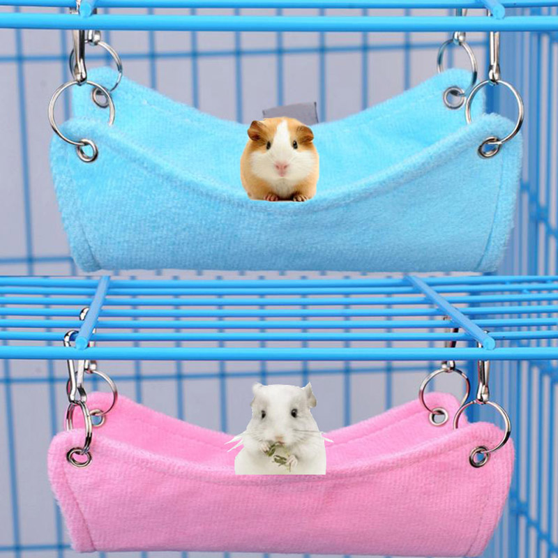 OWDBOB Pet Hamster Hammock Small Animals Rat Parrot Ferret Hamster Hanging Bed Cushion House Cage Accessories For Hamsters