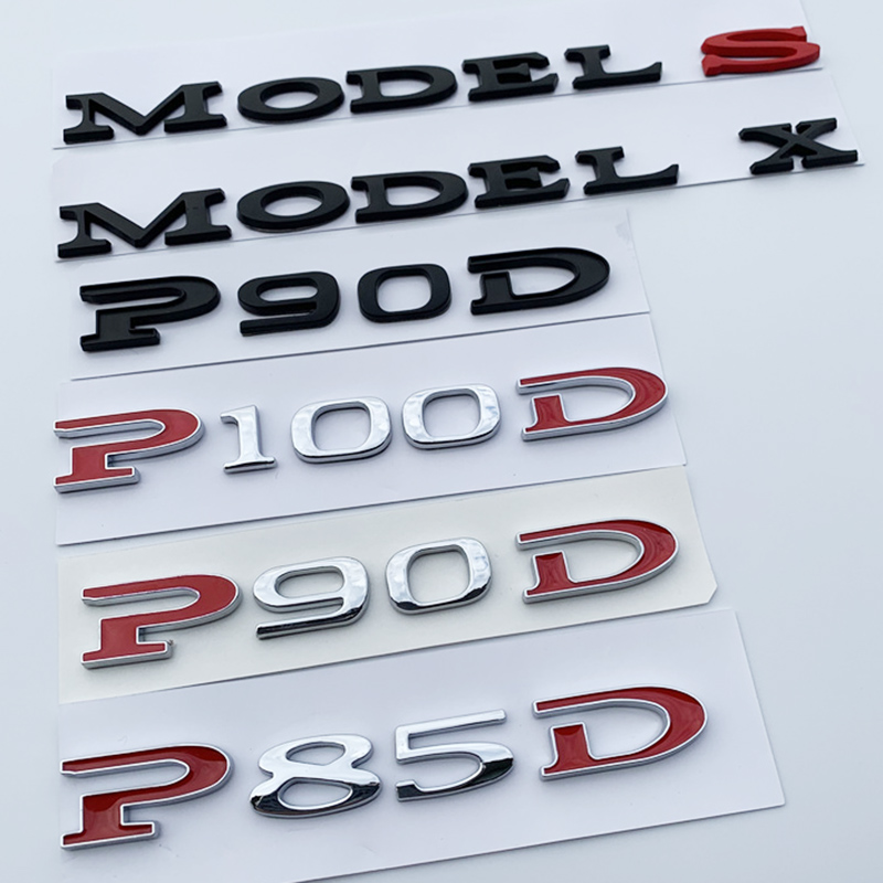60 75 85 90 100 P85D P90D P100D Underline MODEL S X Letters Emblem for Tesla Car Styling High Performance Trunk Badge Sticker