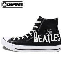 Sneakers Men Women Converse Chuck Taylor The Beatles Abbey Road Original Design Hand Painted Shoes Man Woman Skateboarding Shoes