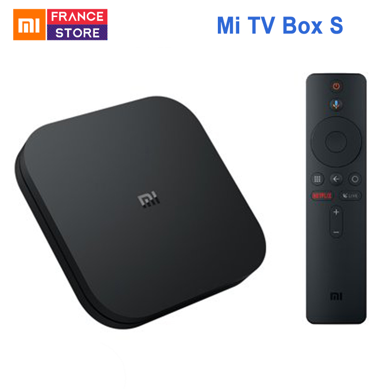 Xiao mi mi TV Box S Android TV Box 8.1 Version mondiale 4 K HDR Quad-core Bluetooth 4.2 Smart TV Box 2 GB DDR3 Smart control