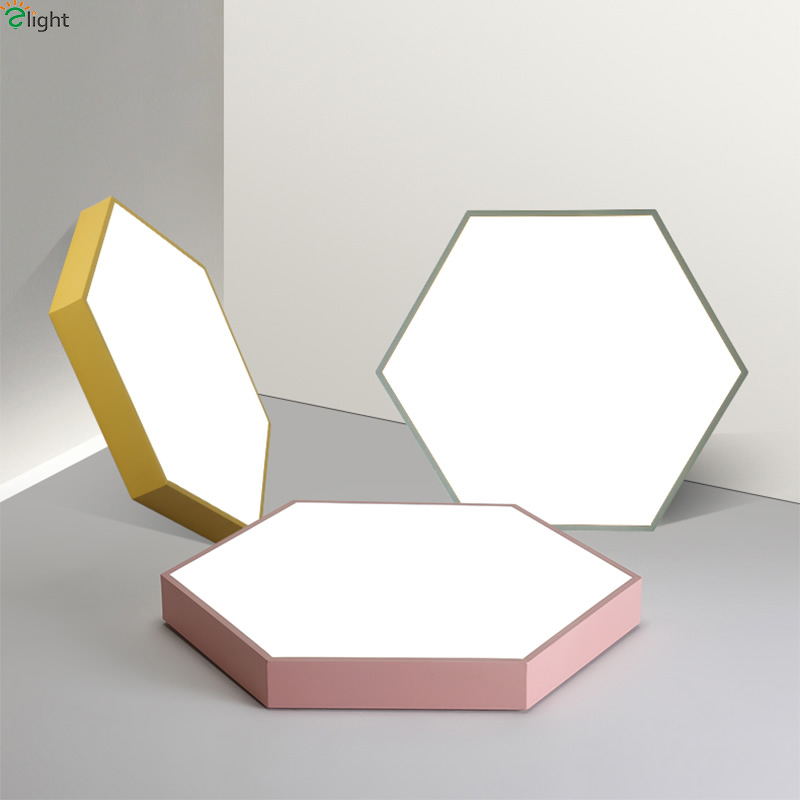 Nordic Simple Rhombus Metal Led Ceiling Lights Acrylic Living Room Dimmable Led Ceiling Lamp Bedroom Led Ceiling Light Fixtures modern simple diy metal stone led ceiling lamp luminaria acrylic bedroom led ceiling lights lamparas led ceiling light fixtures