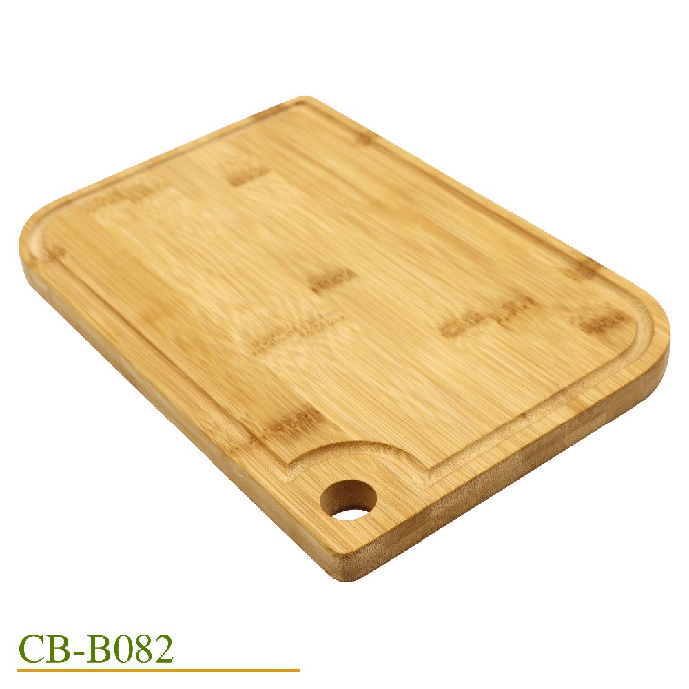 Jaswehome Kitchen Natural Bamboo Cutting Boards Juice Groove Wooden Cutting Board Bamboo Chopping board(China)