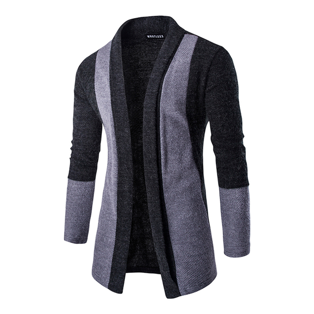 2016 NEW Fashion Long Trench Coat Turn-down Collar  Standard Open Stitch Parchwork  Slim Trench Coat Long Sleeve Overcoat  PY05