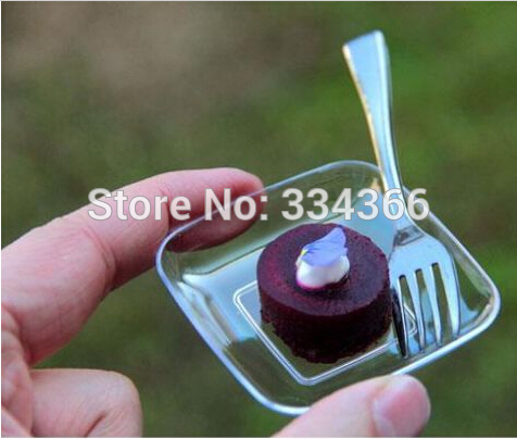 200pcs/lot Plastic Disposable Dessert Cake Candy Dish 2.5\  Mini Square Plate Cake Dish Party Festival Wedding Free Shipping Product Specifications & 200pcs/lot Plastic Disposable Dessert Cake Candy Dish 2.5\