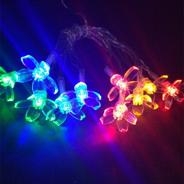 YIYANG 1,5 м 10 светодиодный s Рождественская елка снежные хлопья снежные шары светодиодный Сказочный светильник рождественские вечерние гирлянды для дома и сада декоративный светильник s - Испускаемый цвет: Cherry RGB