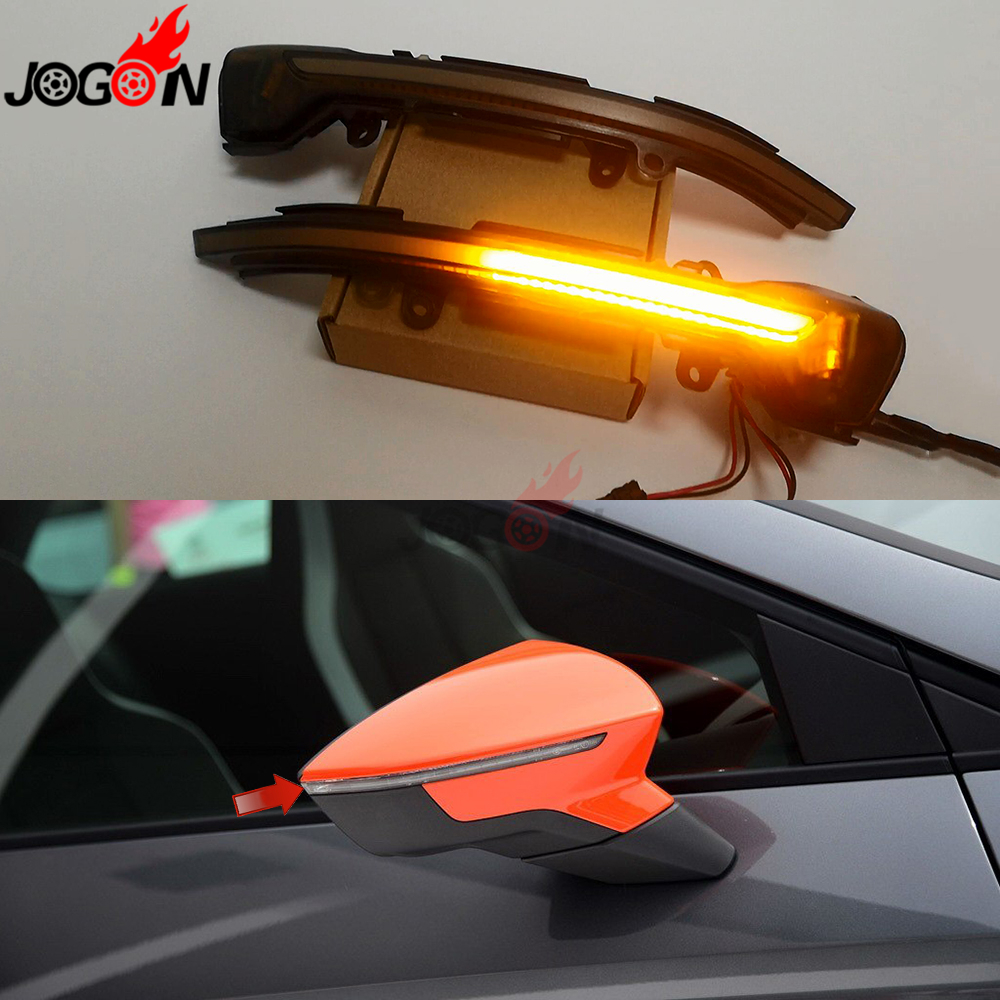 For Seat Leon 5F MK3 2013 2019 Ibiza MK5 Arona 2018 2019 LED Dynamic Turn Signal
