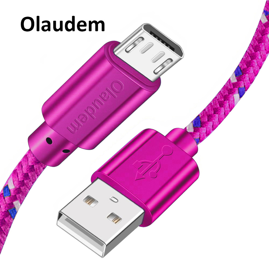 00f0118c2 Olaudem مايكرو كابل USB لسامسونج Xiaomi هواوي HTC سوني سريع شحن USB كابلات  البيانات ل شاحن هاتف محمول يعمل بنظام تشغيل أندرويد كابل USBC288