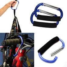 13 см большая коляска подвесные крючки зажима хозяйственная сумка алюминиевая губка d-типа карабин случайный цвет Прямая поставка