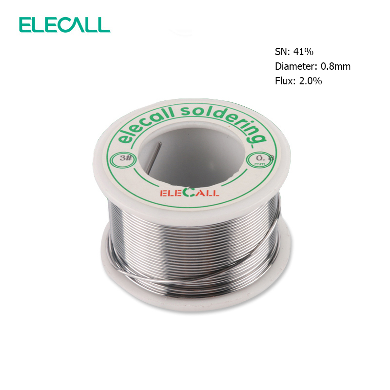 ELECALL New Arrival 41SN Pure Tin 0.5mm 75g Rosin Core Tin/Lead Rosin Roll Flux Reel Lead Melt Core Soldering Tin Solder Wire