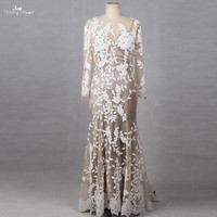RSW1237 Yiaibridal Real Job Photos 2 In 1 Branches Leaves Pattern Brown Wedding Dress For Black