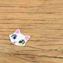 Shinus MIYUKI Necklaces Fox Cat Necklace Delica Child Gift Jewelry Collares Gold Chain Choker Miyuki Stainless Steel
