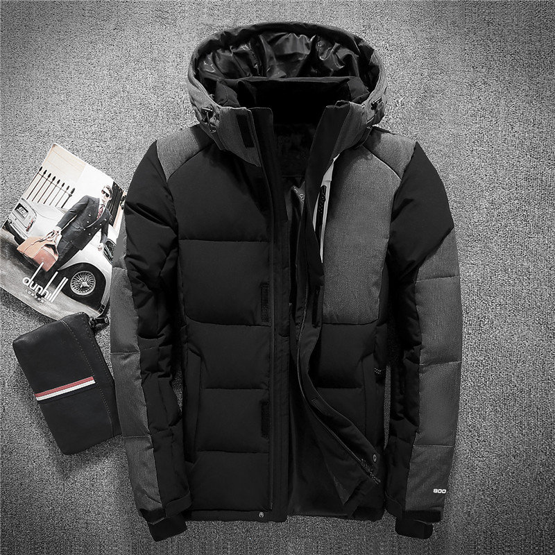2018 Mens Hooded Duck Down Jackets Coat Mens Down Jacket Winter Parkas Couple Clothes Warm Outwear Overcoat 8006