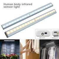 20 LED Cabinet Lights Motion Sensor Night Light with Magnetic Strip WWO66
