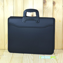 Business custom A4  zipper Men Briefcase Document Bags High capacity Portable File folder/a case for documents /filing