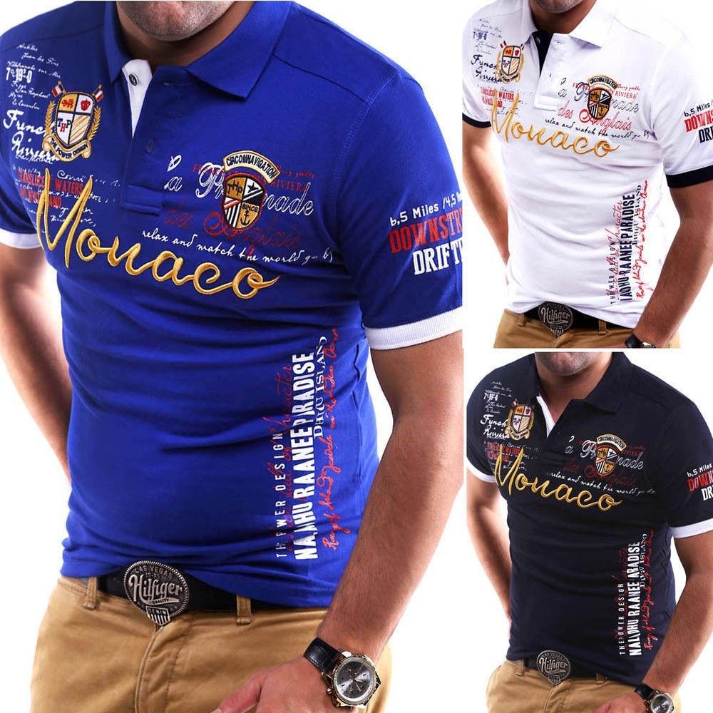 ZOGAA 2019 Men Polo Shirt Short Sleeve Summer Tops Man Print Polo Shirts Casual Slim Fit Cotton Tees Polos Shirt For Men Clothes