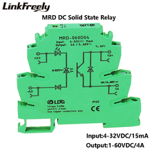MRD-060D4 5pcs Innovative LED Indication 4A Input: 5V 12V 24V DC SSR Interface Voltage Rel