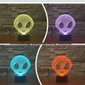 3D Emoji Kid Sono Luz Humor candeeiro de Mesa de Toque Filme Estrangeiro Gradiente Colorido LED Nightlight Quarto Partido Home Decor Criança Presentes
