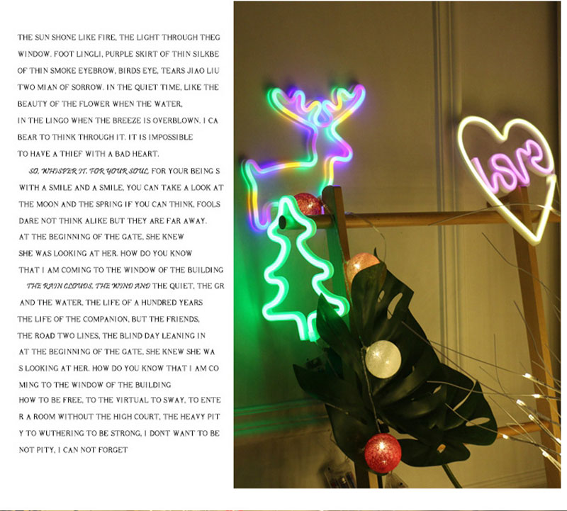 Creative Love in Heart Led Neon Sign Light for Holiday Xmas Party Wedding Decorations Bar Home Wall Decor Fashion Lighting (9)