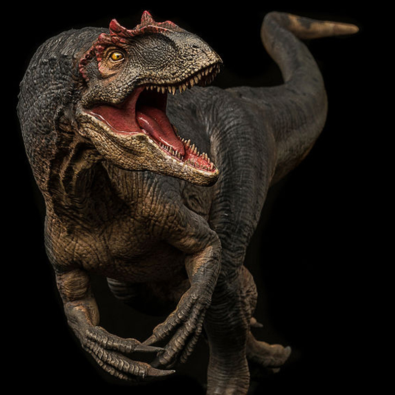 2018 Produit Préhistorique Monde Jurassique Allosaurus Modèle Jouet Cadeau Ornements 1:35