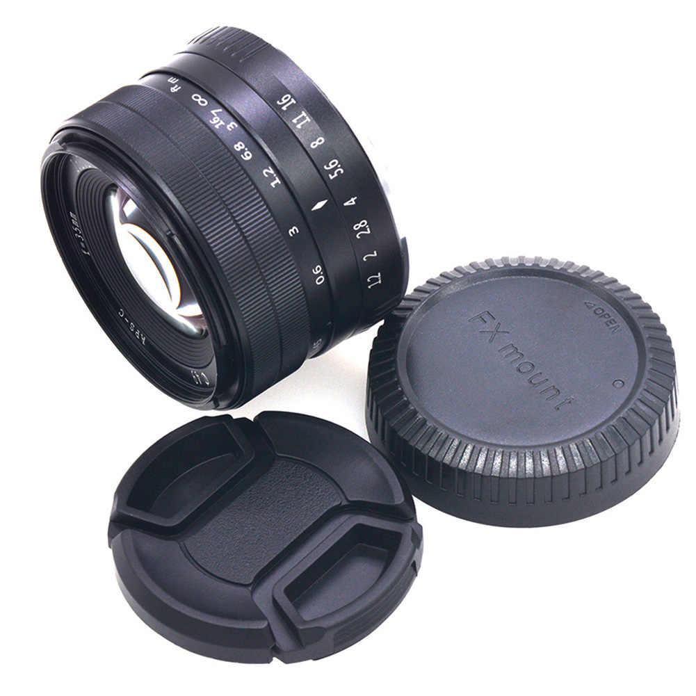 Новый 35 мм F1.2 ручная фокусировка объектива металлический корпус прочный легкий объектив для Fuji X DC128