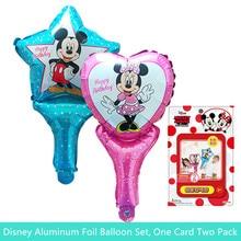 2pcs Minnie Mickey Birthday Decorative Balloon Aluminum mini mickey mouse Children Toy Party boy girl