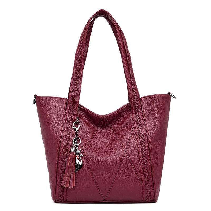 New Leather Tassel New Large Capacity Women Shoulder Bag Messenger Bag Handbag Famous Big Bag Designer Handbags High Quality Sac цена