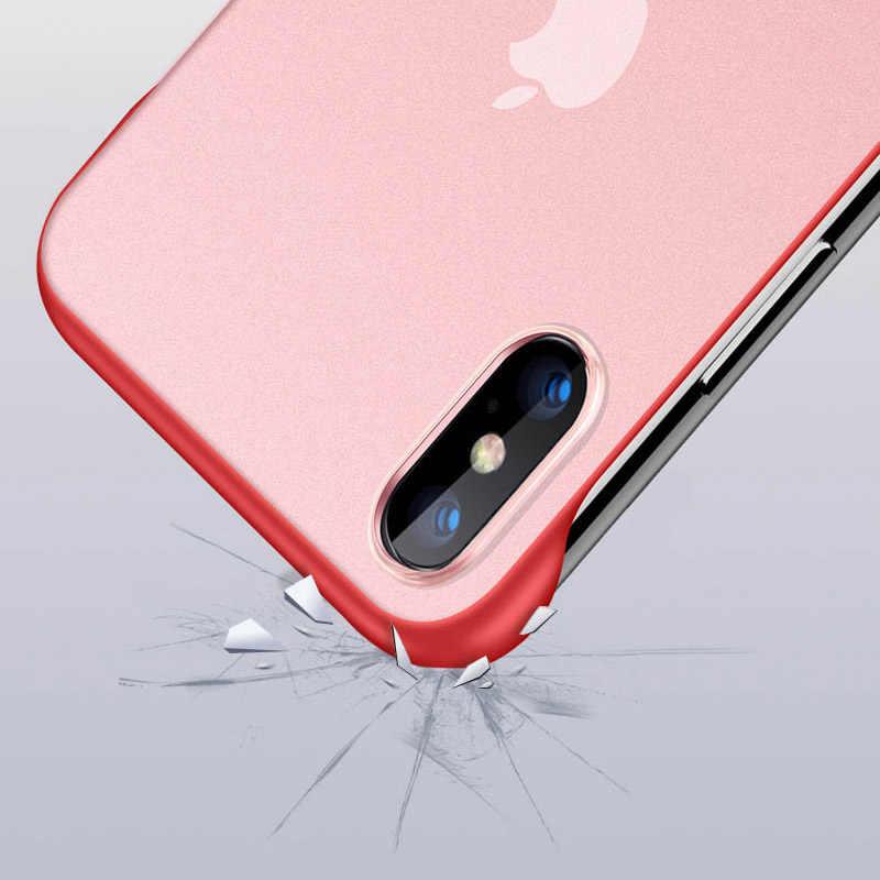 Iphone 8 7 プラス 6 6X10 超薄型リムレスセンチメートルボーダレス電話ケースカバー iphone X Xs 最大 6 6S プラス電話ケースとロープ